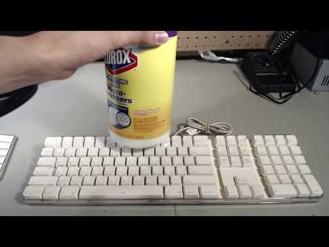 Cleaning and Sticker Removal from an Apple Keyboard