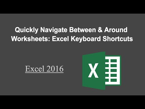 Excel Keyboard Shortcuts: Quickly Navigate Between Worksheets