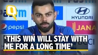 """The Quint: """"Kedar And I Wanted to Take the Score to 160 Together,"""" Says Kohli"""
