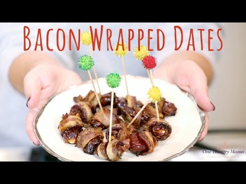 Bacon Wrapped Dates: Easy, delicious holiday appetizer | One Hungry Mama