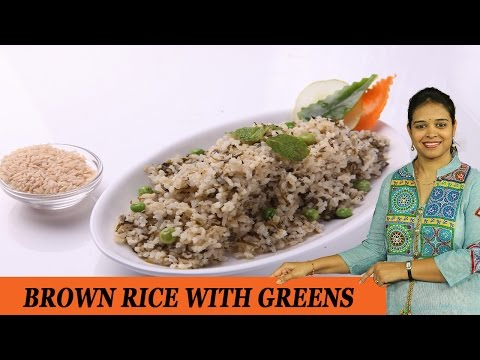 BROWN RICE WITH GREENS - Mrs Vahchef