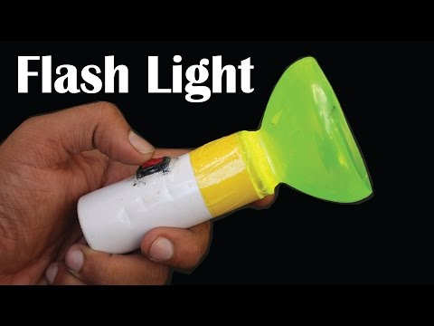 How To Make LED Flash Light With Plastic Bottle And Deodorant Bottle