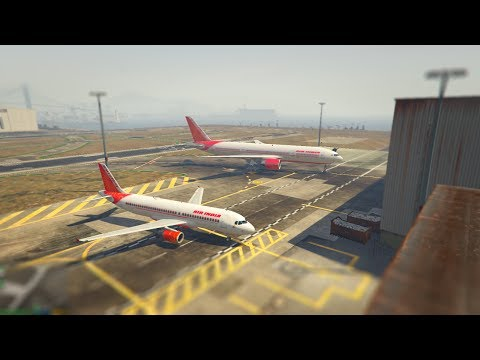GTA 5 Air India A320 and B777 mod installation and flight test