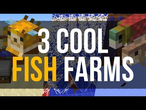 3 Cool Fish Farms in Minecraft 1.13