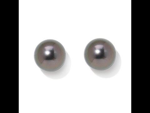 Tara Pearls Cultured Tahitian Pearl Earrings