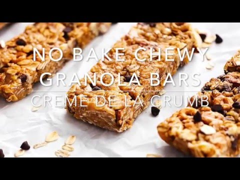 no bake chewy granola bars