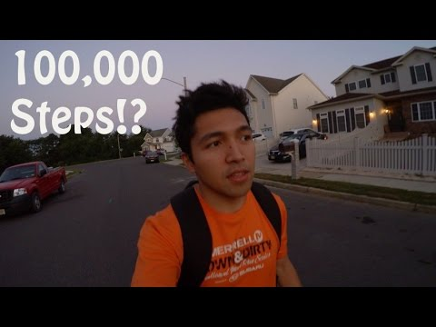 100,000 Steps in a Day for Fitbit || VLOG