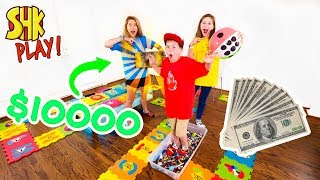 GIANT Board Game Challenge! Winner Gets $10,000 and Treasure Chest
