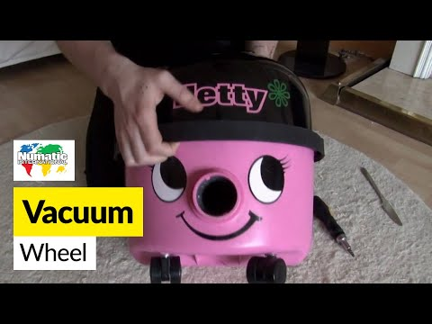 How to Replace Henry Rear Wheels on a Numatic Henry and Hetty Vacuum Cleaner