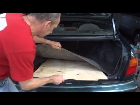 How To Make A New Spare Tire Cover Trunk Board