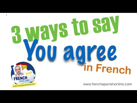 3 ways to say you agree in French