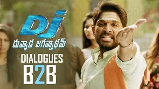 Dj Duvvada Jagannadham Movie Dialogues   Back 2 Back   Allu Arjun   Pooja Hegde   TFPC