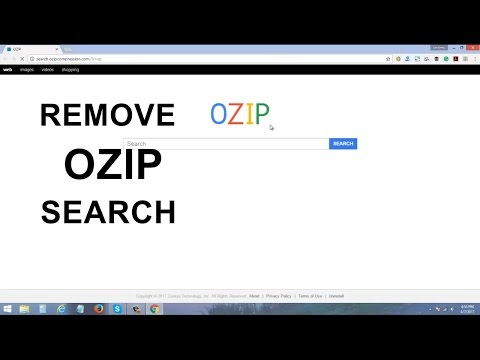 Ozip Compression | How to Remove OZIP Search From Chrome, FF & IE
