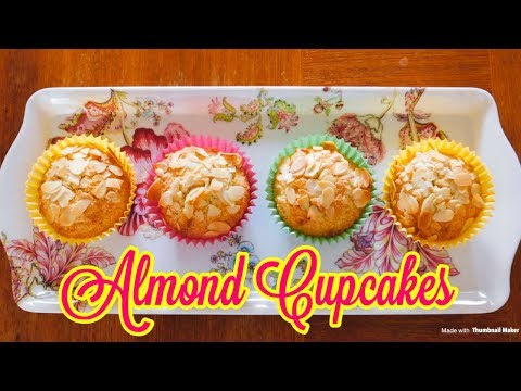 Almond Cupcakes recipe | Home made Almond Cupcakes | Simple and Easy