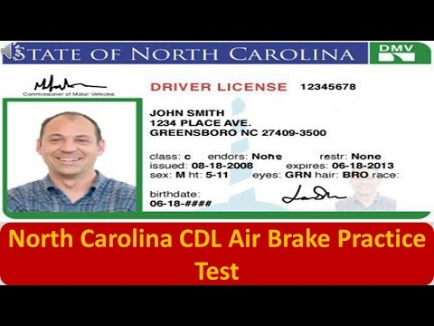 North Carolina CDL Air Brake Practice Test