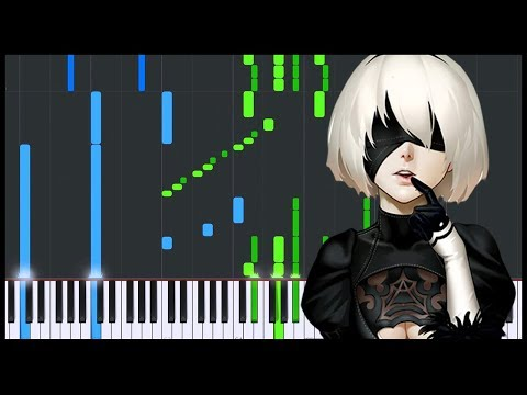 Weight of the World - NieR Automata [Piano Tutorial] (Synthesia) // JbPianiste
