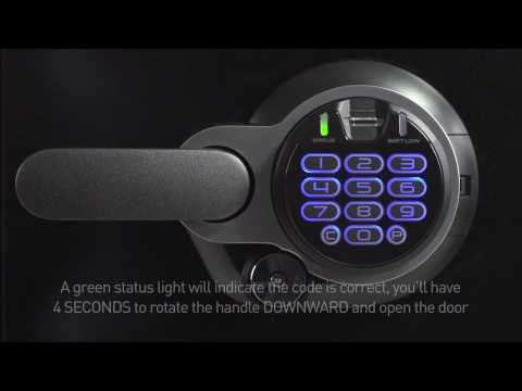 How to Open a Sentry®Safe Electronic Lock with Dual Key and Fingerprint Scanner Fire Safe