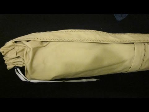 How to make a Yoga Mat Bag with pockets