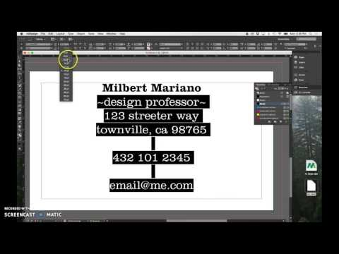 How to create a simple Business Card in InDesign CC