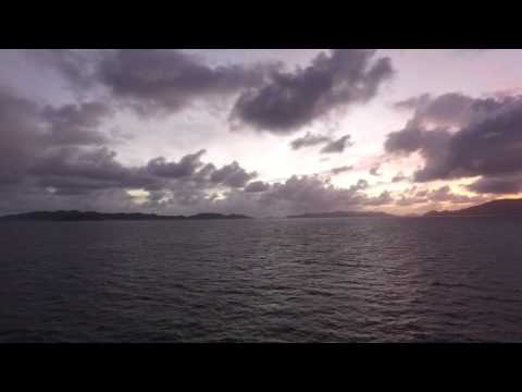 Leaving Tortola BVI Port on a cruise ship - DJI OSMO