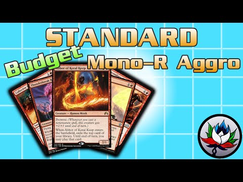 "MTG – Mono Red Burn ""Budget"" Competitive Standard Deck Tech for Magic: The Gathering!"