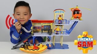 HD Fireman Sam Ocean Rescue Centre Playset Toys Unboxing And Playing Fun With Ckn Toys