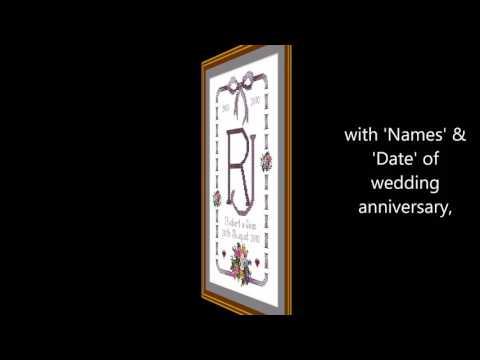 Wedding anniversary cross-stitch sampler kits