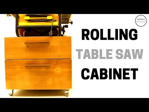 Making a Storage Cabinet on Casters for a Table Saw - Ep 058