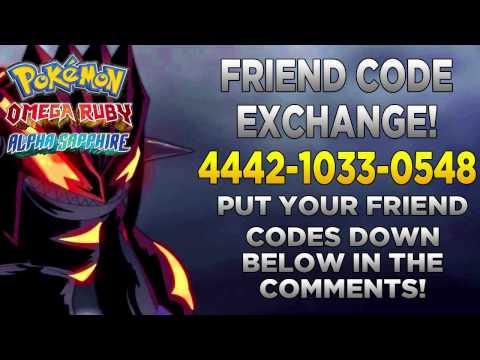 Friend Code Exchange- Omega Ruby Alpha Sapphire/ X&Y (ORAS/X&Y FC Exchange)