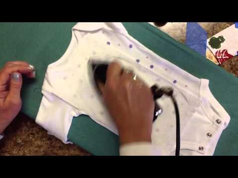 Setting Acrylic Paint with an Iron