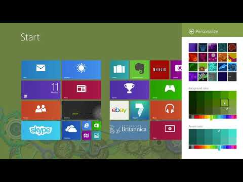Windows 8.1 - How to Change the Start Screen Background