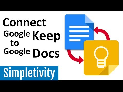 Google Keep and Google Docs Together! (How to Connect Notes)
