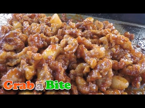 Sweet and Sour Chicken (Dakgangjeong : 닭강정) - Korean Street Food [Part 11]