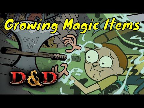 D&D (5e): Custom Magic Items that Level Up.