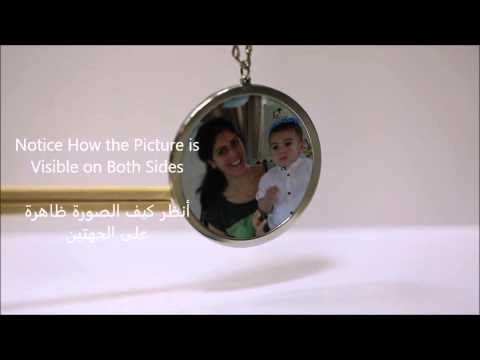 circular two sided picture pendant