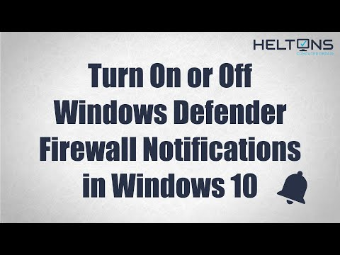 How to Turn On or Off Windows Defender Firewall Notifications in Windows 10