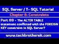 The ALTER TABLE statement conflicted with the FOREIGN KEY constraint in SQL Server-SQL Tutorial P69