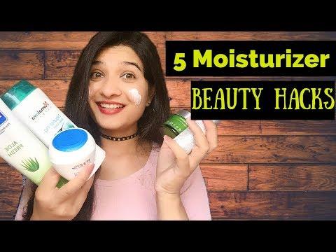 5 Magical Beauty HACKS Using MOISTURIZER- Remove dead Cell,clear skin,frizzy hair,shaving / AVNI