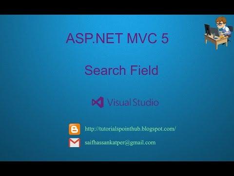 ASP.Net MVC5 - Search field | SQL-Server | Visual Studio 2013