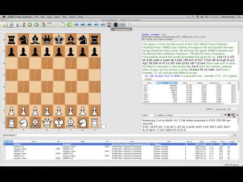 HIARCS Chess Explorer Tutorial Video 02: Main User Interface (MAC)