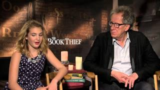 THE BOOK THIEF Interviews: Geoffrey Rush and Sophie Nélisse sit down with Andrew Freund