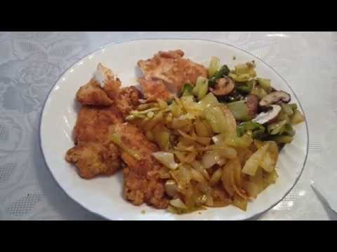 LOW CARB MEAL BAKED CHICKEN BREAST, SAUTEED ONIONS, GRILLED VEGETABLE MIX
