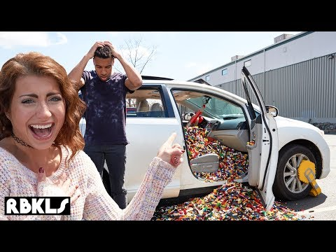 100,000 LEGO BRICKS IN CAR PRANK! - REBRICKULOUS