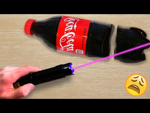 EXPERIMENT MOST POWERFUL LASER VS GUMMY COCA COLA | David Vlas