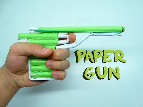 How To Make a Paper Gun that Shoots | DIY