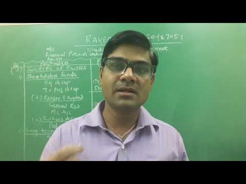 Study of Financial Statement (Vertical Balance sheet  Statement ) Lecture-2 by Rakesh Sir