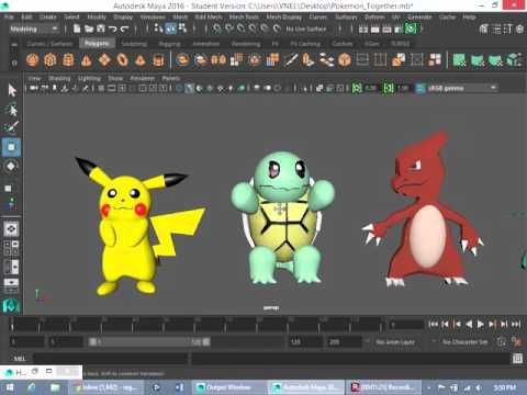 Maya and Unity How to make a Pokemon Battle Game