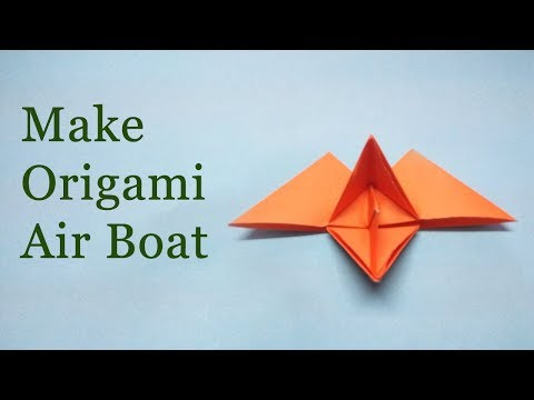 Origami Flying Paper Boat | DIY Origami Paper Craft Easy Tutorial Step by Step