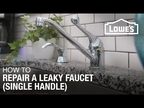 How to Fix A Dripping or Leaky Single Handle Faucet
