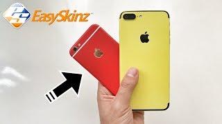 غيّر لون جهازك لالوان رائعة حسب ذوقك وبسهولة ( طريقة لصق الستيكر الحراري EasySkinz) 2017